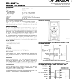 i56 0758 015 installation and maintenance instructions rts151key a remote test station specifications dimensions weight power requirements power led  [ 791 x 1024 Pixel ]