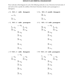 365 molecular orbital diagram key draw molecular orbital diagrams for each of the following molecules or ions determine the bond order of each and use this  [ 791 x 1024 Pixel ]
