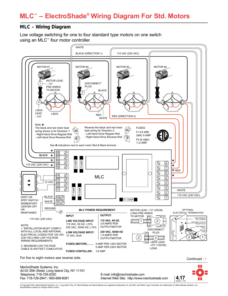 mechoshade wiring diagram