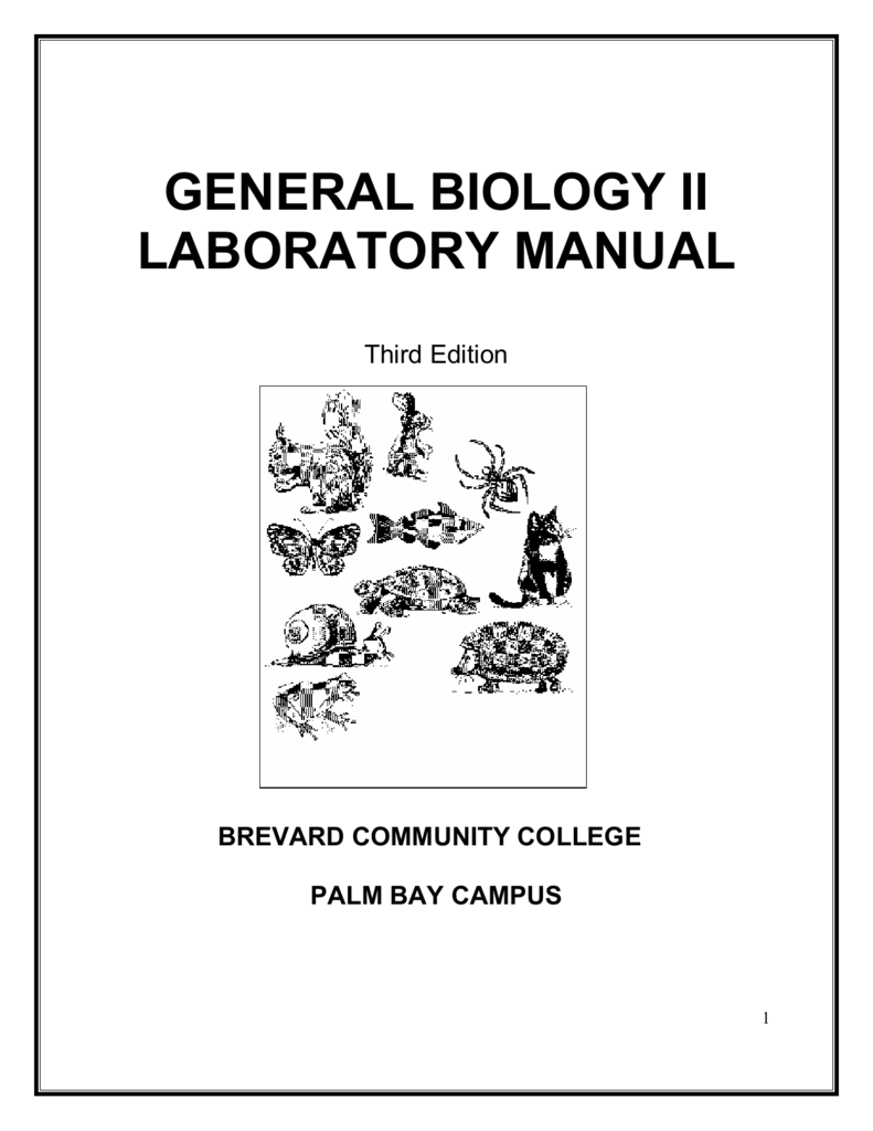 general biology ii laboratory manual
