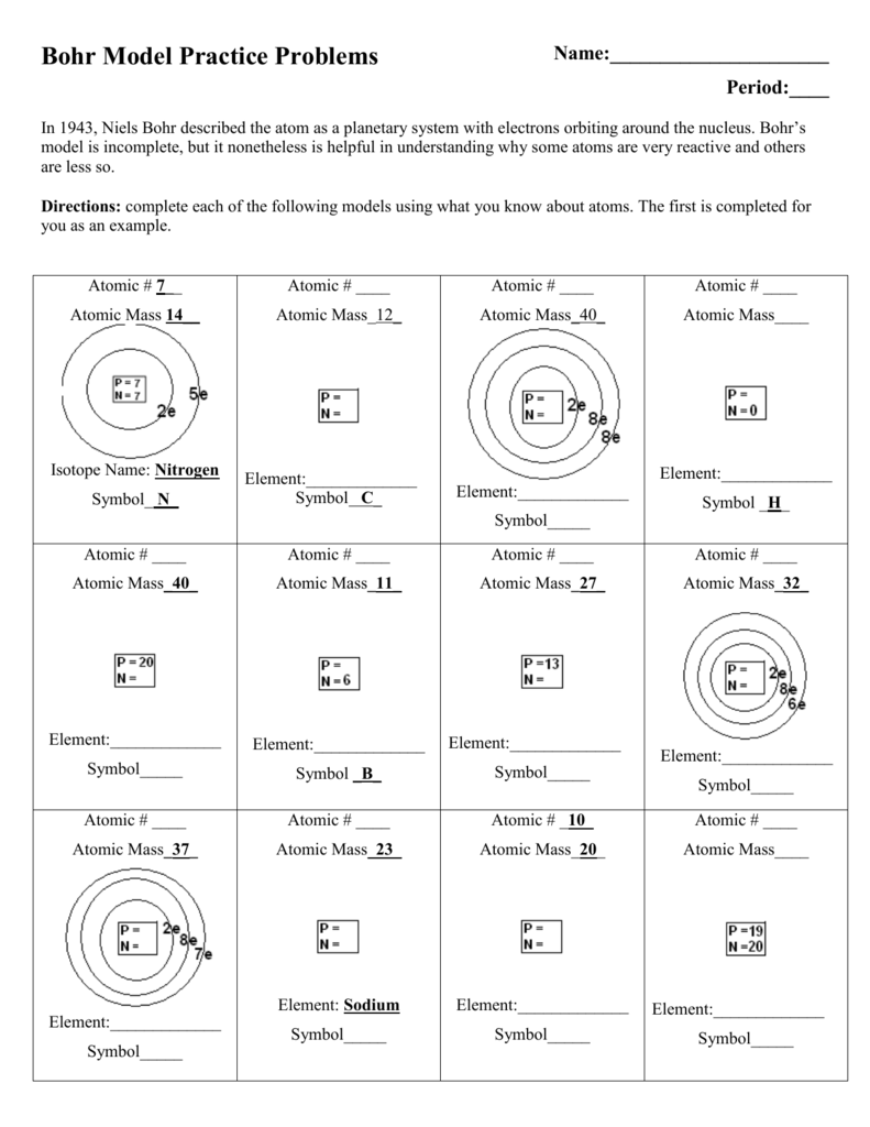 medium resolution of period in 1943 niels bohr described the atom as a planetary system with electrons orbiting around the nucleus bohr s model is incomplete