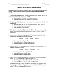 Collection of Stoichiometry Worksheet Answers With Work ...