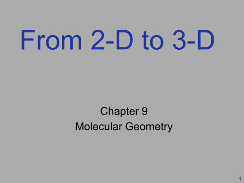 small resolution of  3 d chapter 9 molecular geometry 1 moving on to shapes a chemical formula tells us the identity of atoms the number of atoms the lewis structure