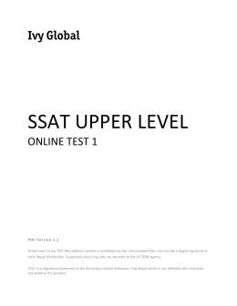 ssat information sheet