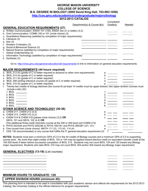 small resolution of Degree Worksheet - Academic Advising
