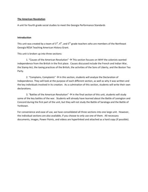small resolution of The American Revolution - negaresa.org
