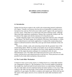 224 chapter 6 reciprocating internal combustion engines 6 1 introduction perhaps the best known engine in the world is the reciprocating internal combustion  [ 791 x 1024 Pixel ]