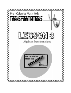 3.5 Transformations of Exponential Functions