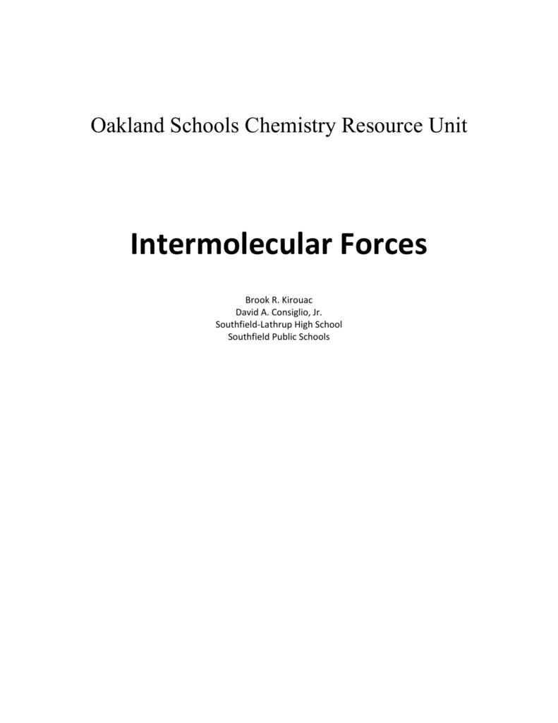 hight resolution of oakland schools chemistry resource unit intermolecular forces brook r kirouac david a consiglio jr southfield lathrup high school southfield public