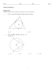 Geometry Test Chapter 12 Review