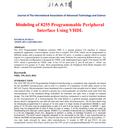 15 september 2014 issn 2095 1563 journal of the international association of advanced technology and science modeling of 8255 programmable peripheral  [ 791 x 1024 Pixel ]