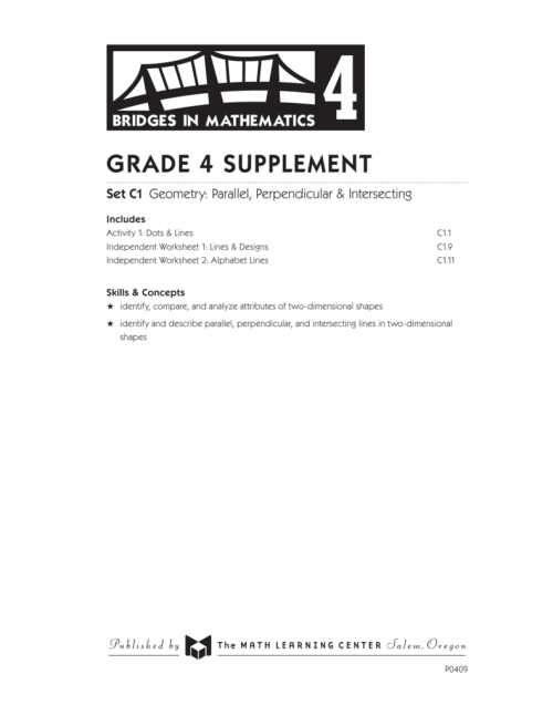 small resolution of Grade 4 supplement - The Math Learning Center