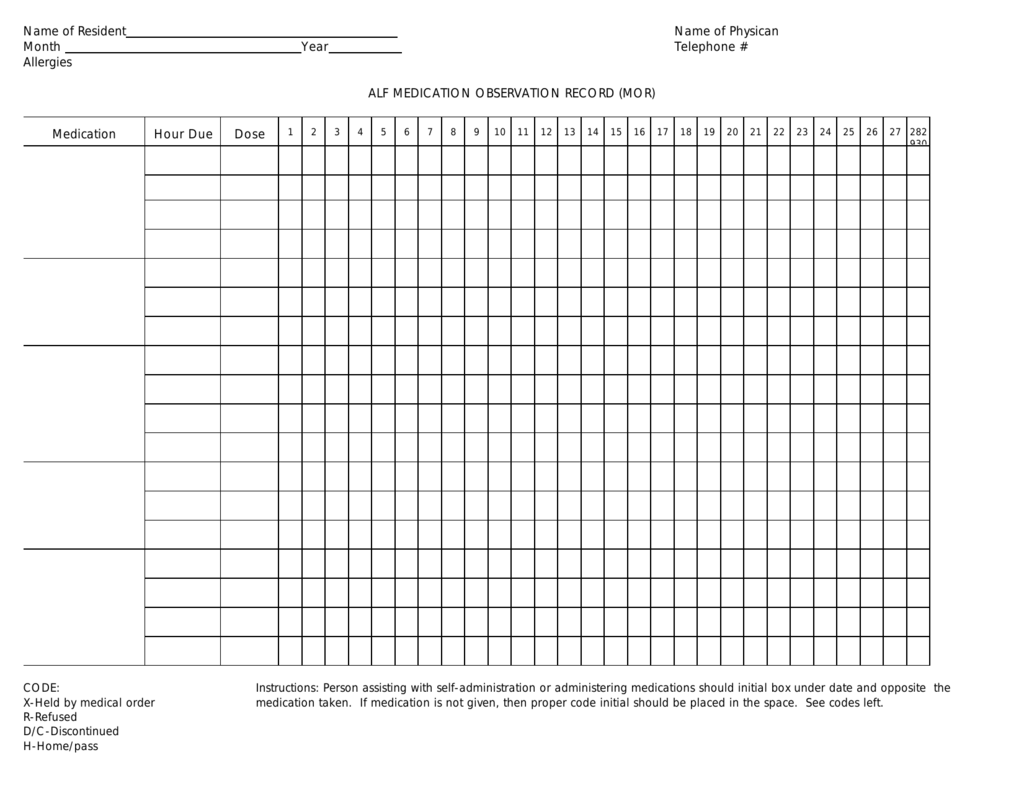 Medication Observation Record