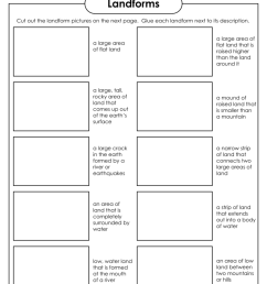 Landforms - Super Teacher Worksheets [ 1024 x 791 Pixel ]