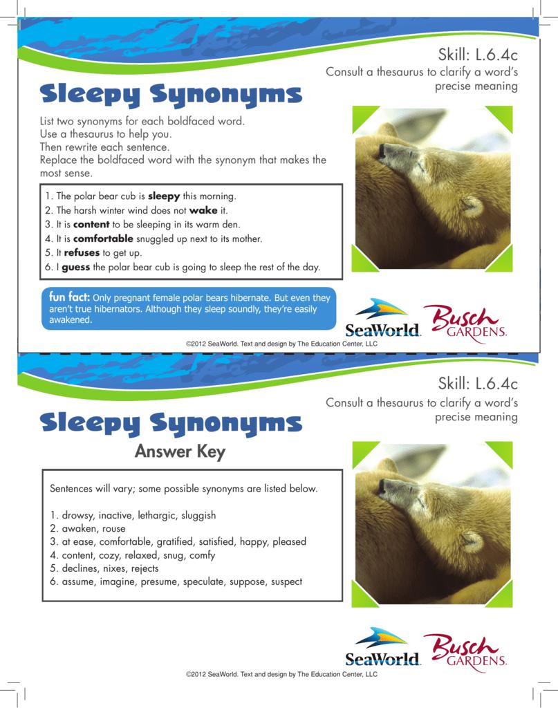 hight resolution of Sleepy Synonyms Sleepy Synonyms