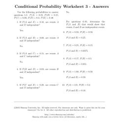 Conditional Probability Worksheet 3 - Answers [ 1024 x 791 Pixel ]