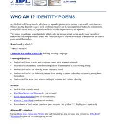 Who Am I? Identity Poems - Anti [ 1024 x 791 Pixel ]