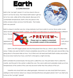 Earth - Super Teacher Worksheets [ 1024 x 791 Pixel ]