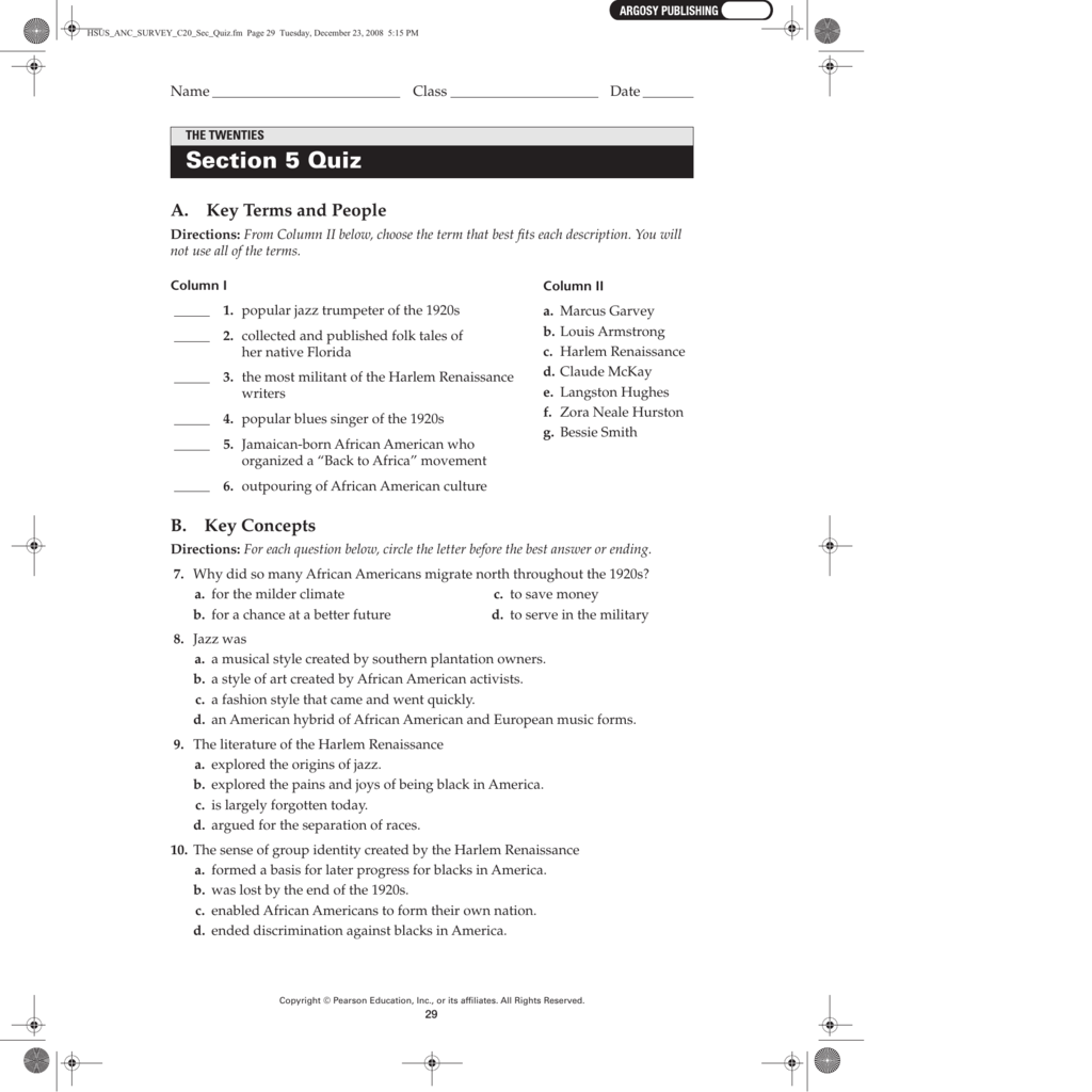 Chapter 12 Section 5 Quiz