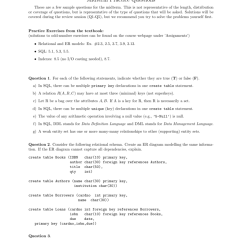 Er Diagram Practice Problems With Solutions Heart Worksheet Midterm And Exercises