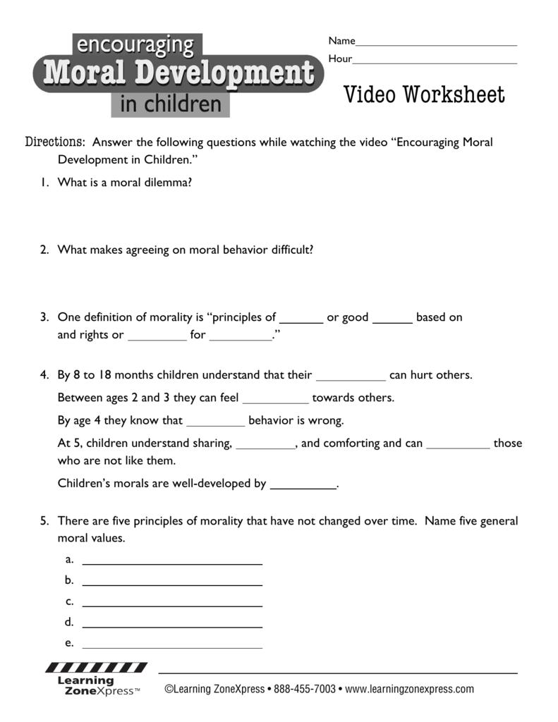 hight resolution of DownloadMoral Development Video Worksheet