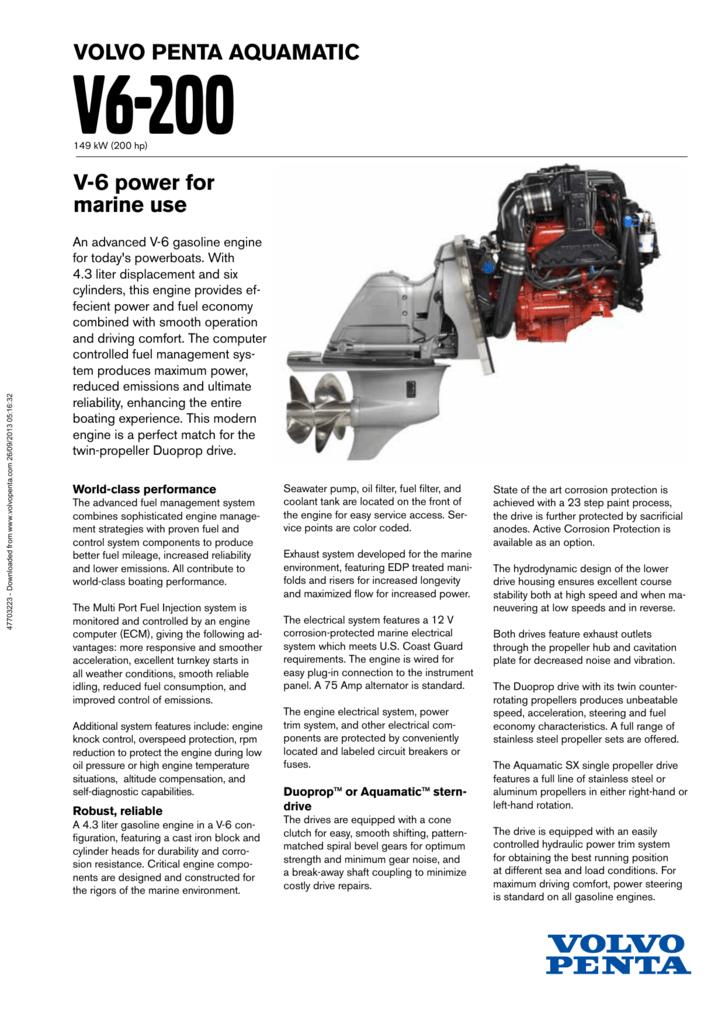 Volvo Penta V6 200Gi DPS
