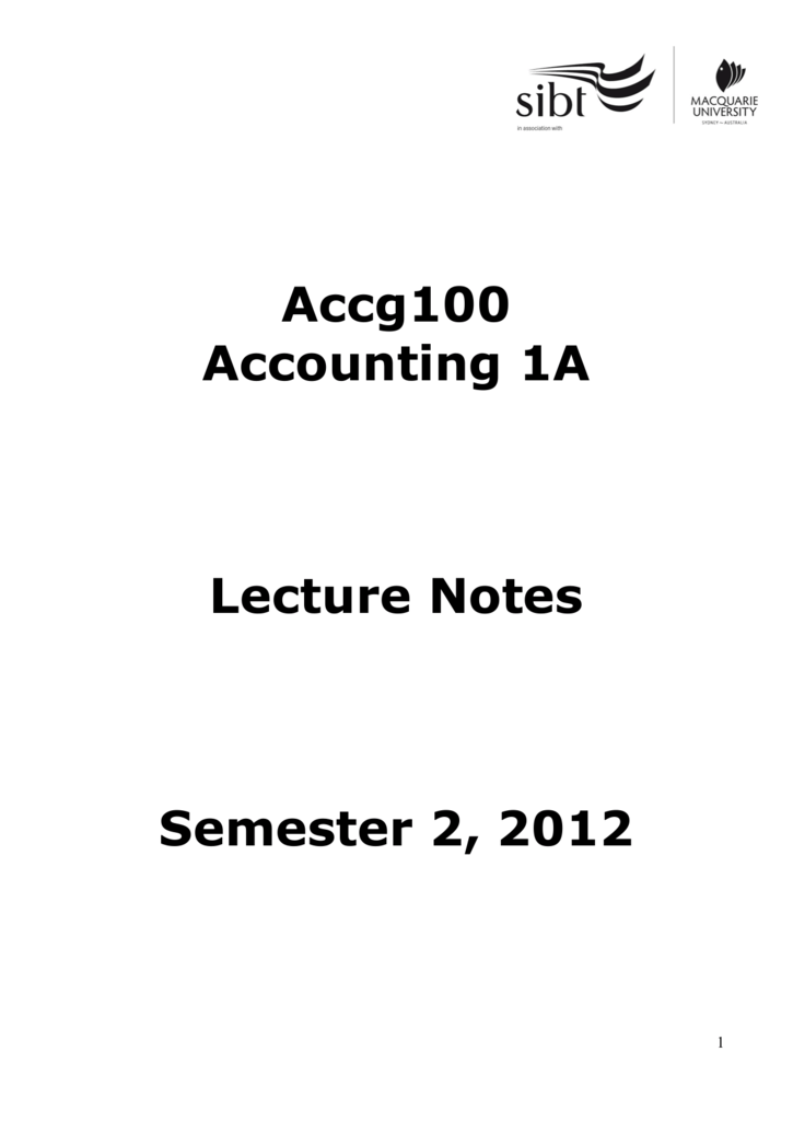 Lecture Notes Week 1