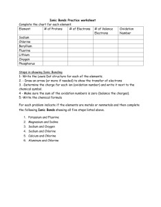 also ionic bonds practice worksheet complete the chart for each element rh studylib