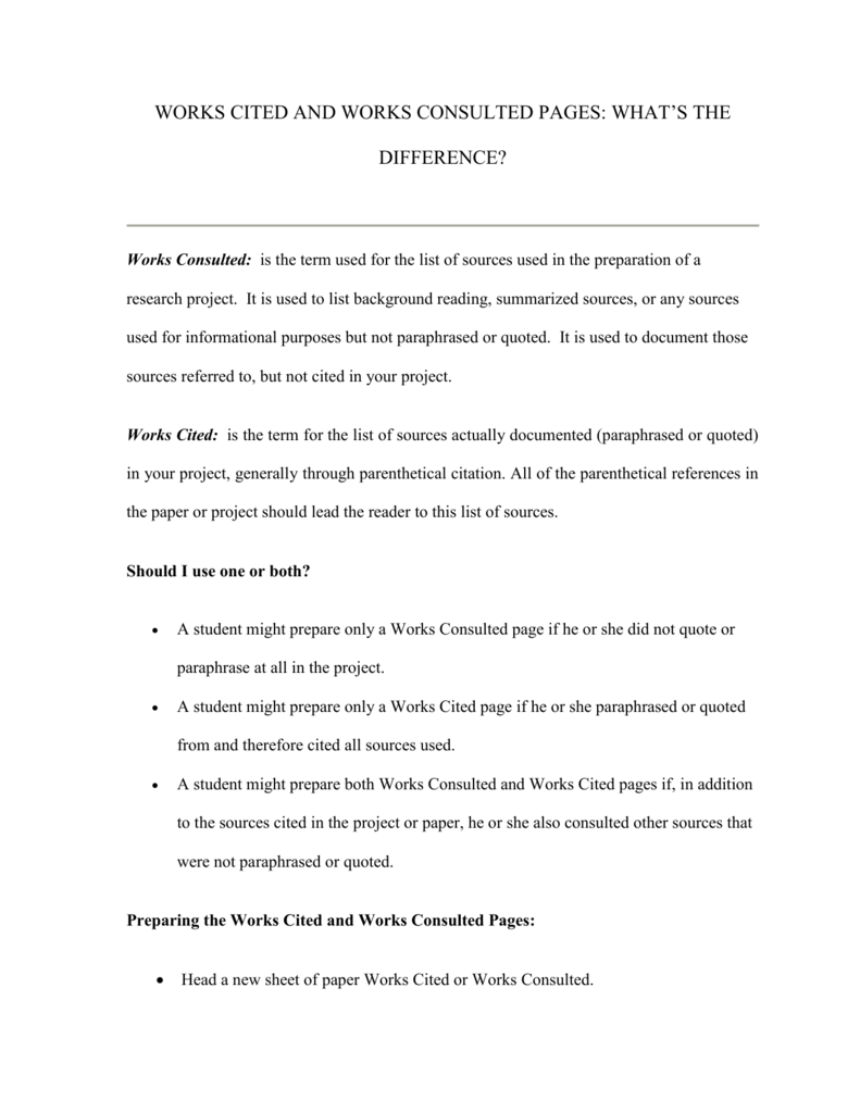Work Cited Page For Research Paper Coursework Academic Writing Service