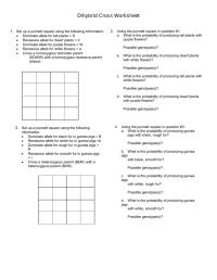 worksheet. Dihybrid Cross Worksheet Key. Worksheet Fun ...