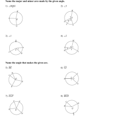 Angles And Arcs Worksheet - Worksheet List [ 1024 x 791 Pixel ]