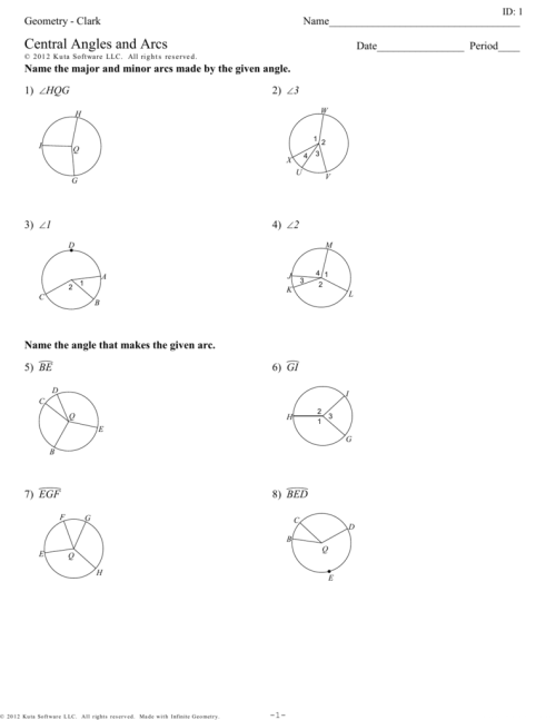 small resolution of Angles And Arcs Worksheet - Worksheet List