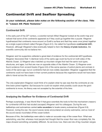 Usable Continental Drift Worksheet | goodsnyc.com