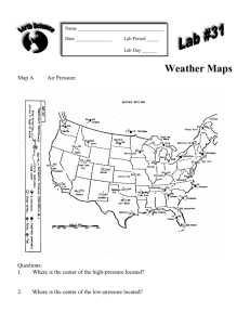 WEATHER MAP INVESTIGATIONS: Questions 1-3