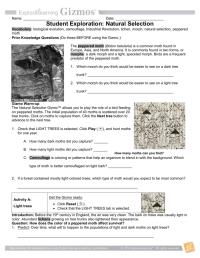 worksheet. Natural Selection Worksheet Answer Key. Carlos ...