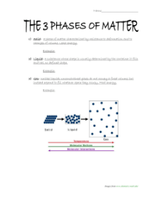 The three phases of matter worksheet also unit rh studylib
