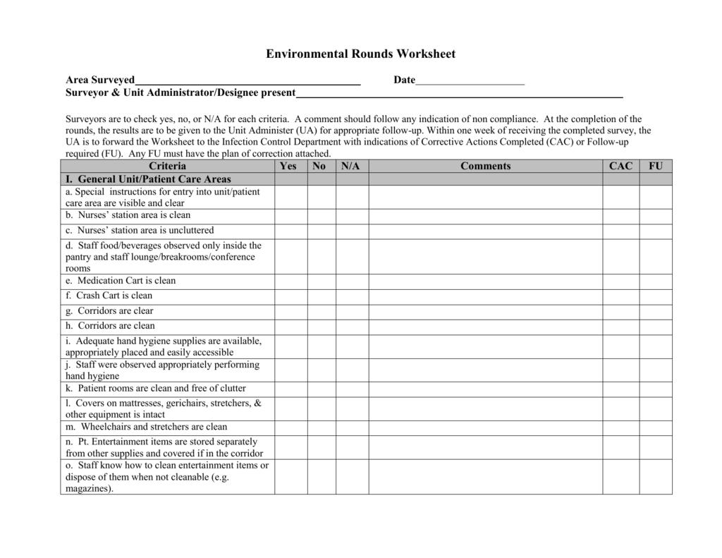 Environmental Rounds Worksheet V1 0