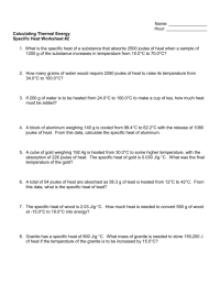 worksheet. Specific Heat Worksheet With Answers. Grass ...