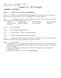Facilitated Diffusion Worksheet Answers. Worksheets ...