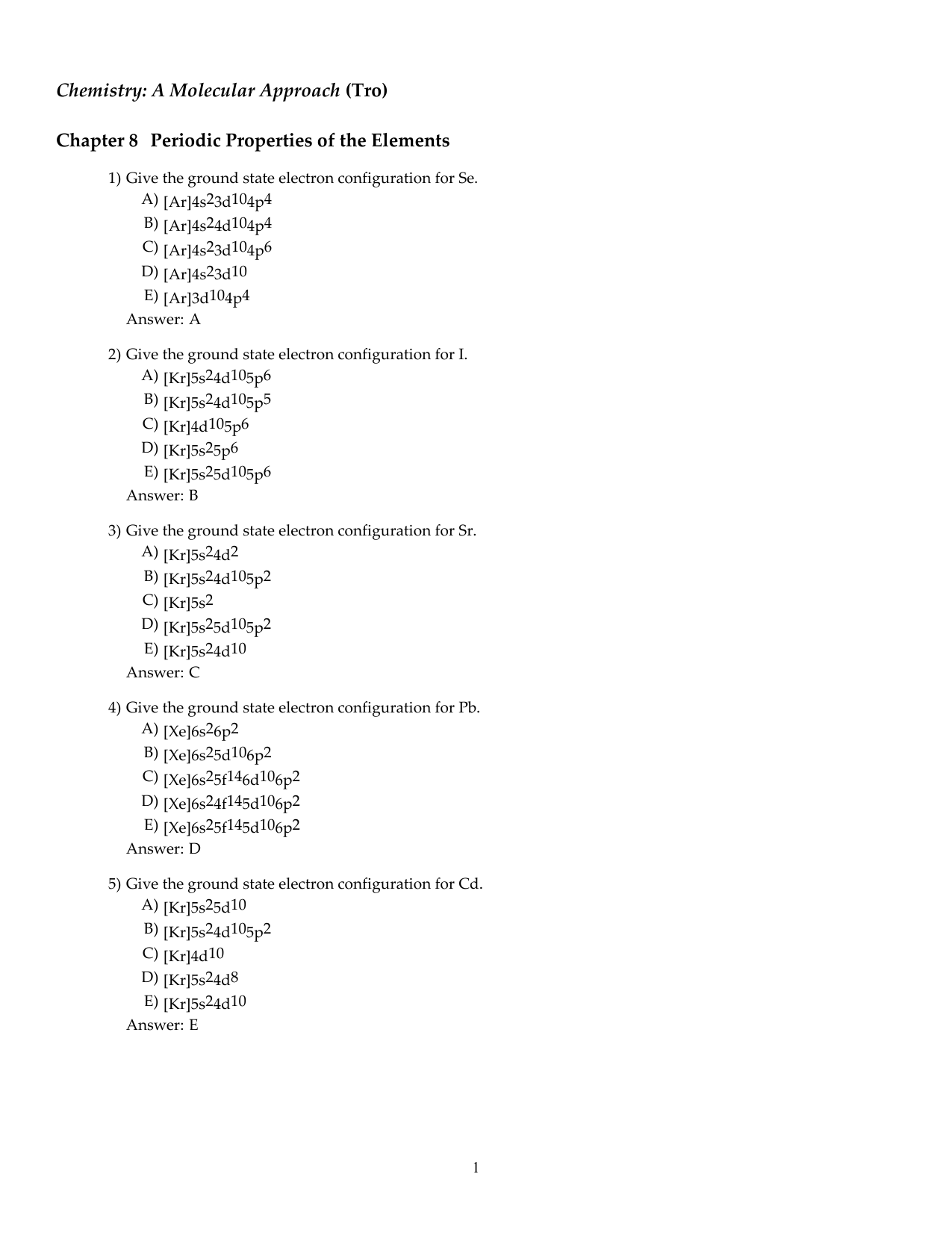 Chapter 8 Review Sheet