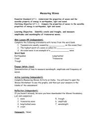 worksheet. Properties Of Waves Worksheet. Grass Fedjp ...