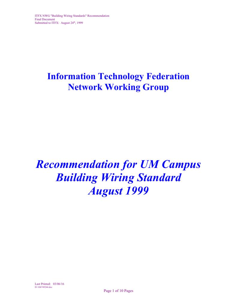 hight resolution of network wiring standard