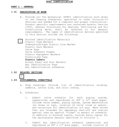 section 15502 hvac identification part 1 general 1 01 description of work a painted identification materials plastic pipe markers underground type  [ 791 x 1024 Pixel ]