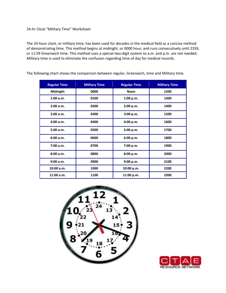 hight resolution of Military Time Worksheet