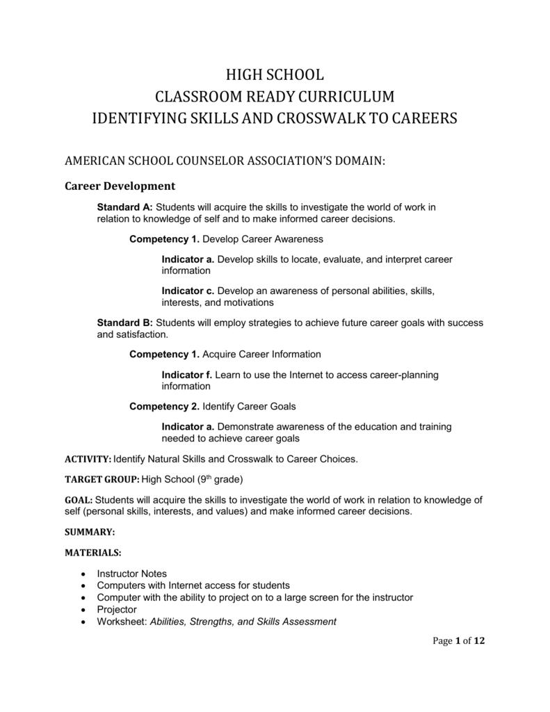hight resolution of high school abilities