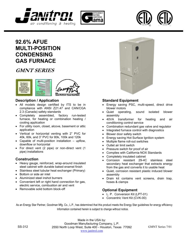 medium resolution of janitrol ga duct furnace wiring diagram