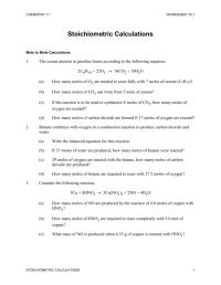 √ Stoichiometry Worksheets | Printables. Stoichiometry ...
