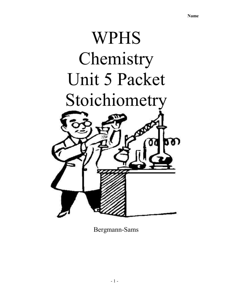 Worksheet 5.1 Stoichiometry