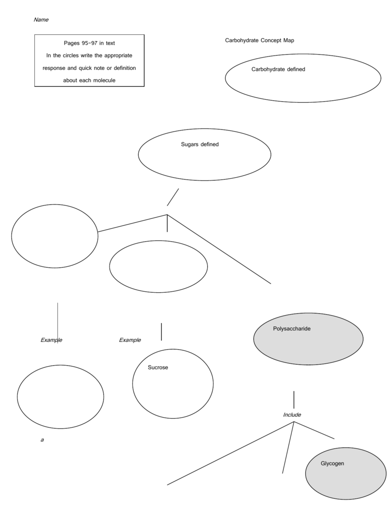 Carbohydrate Concept Map