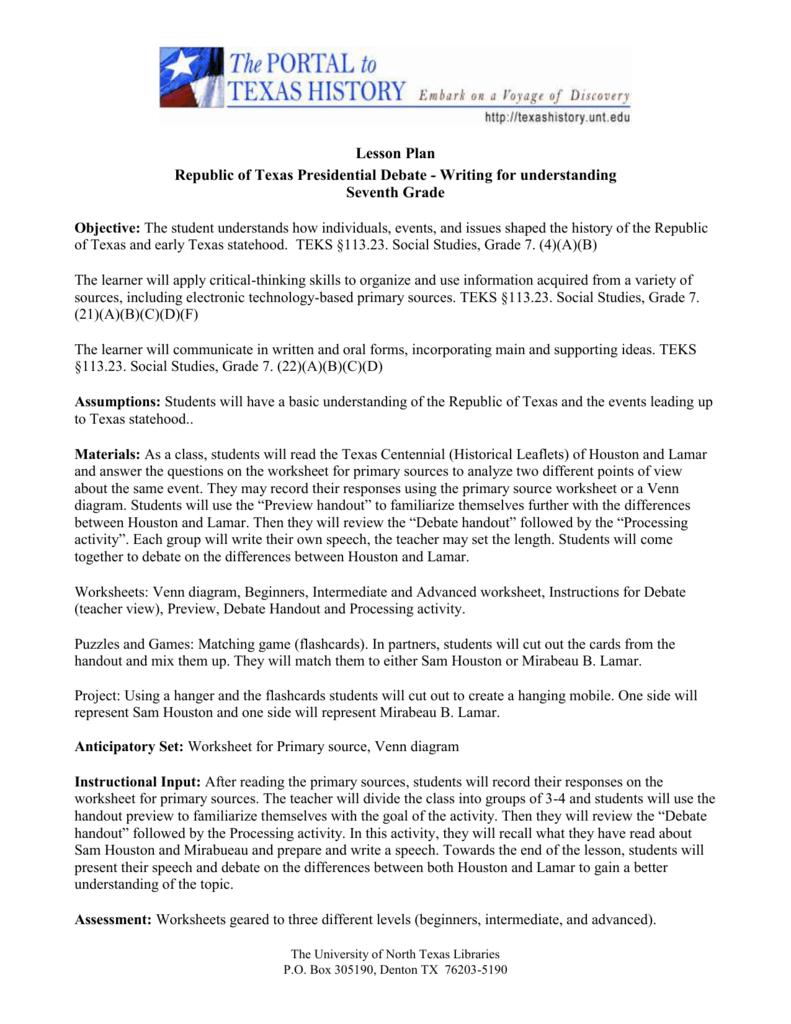 medium resolution of 7th Grade - University of North Texas